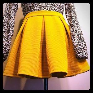 Forever 21 Yellow Mini-Skirt